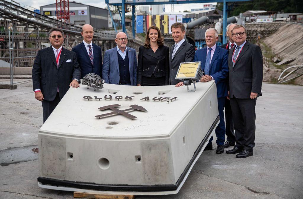 Im September 2019 feierte die Bahn den Abschluss des Rohbaus am Fildertunnel. Von hier aus soll es zum Flughafen gehen. Foto: Lichtgut/Julian Rettig