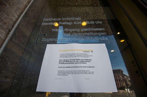 Rathaus sagt alle Gremiensitzungen bis Anfang April ab
