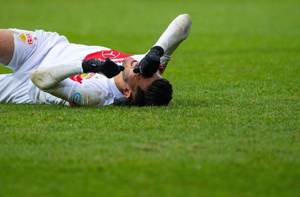 Der VfB Stuttgart reist sieglos von Aufsteiger Osnabrück ab. Foto: dpa/Guido Kirchner