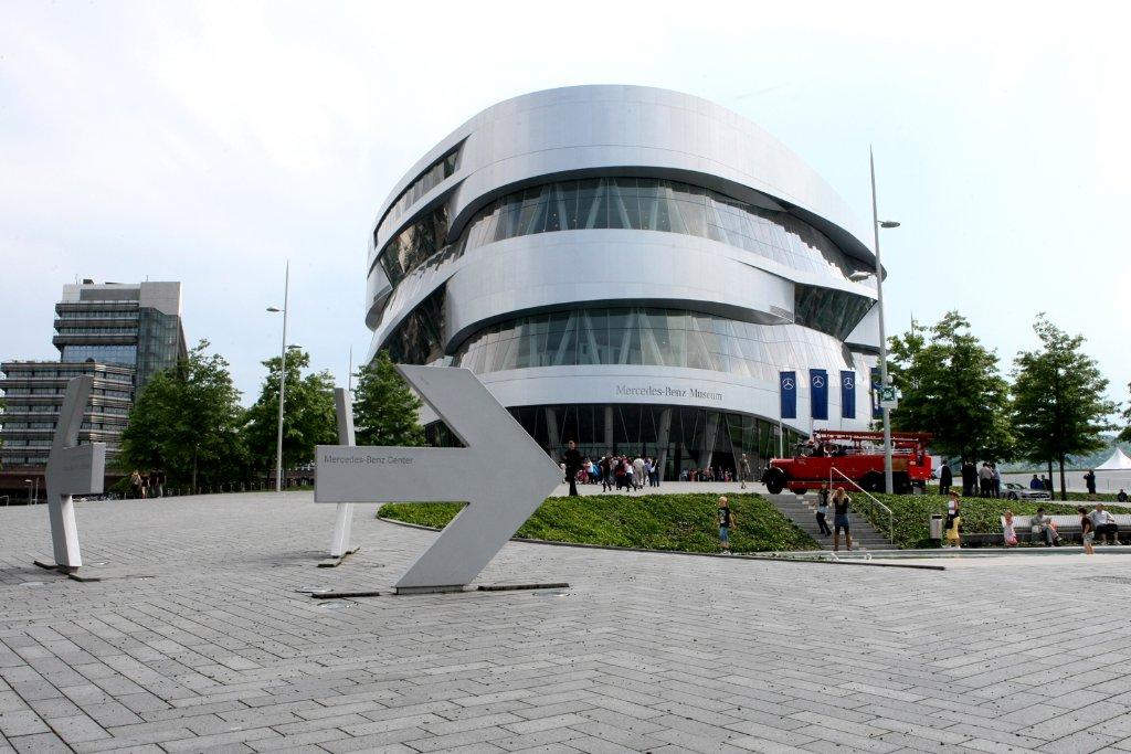 Die Social Media Nights finden regelmäßig im Mercedes-Benz-Museum statt. Foto: Rothe