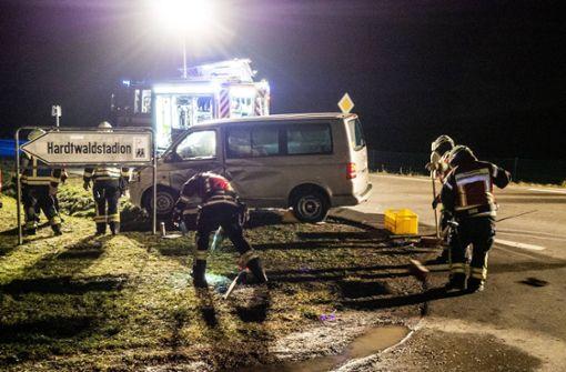 Vorfahrt an Kreuzung missachtet – ein Schwerverletzter