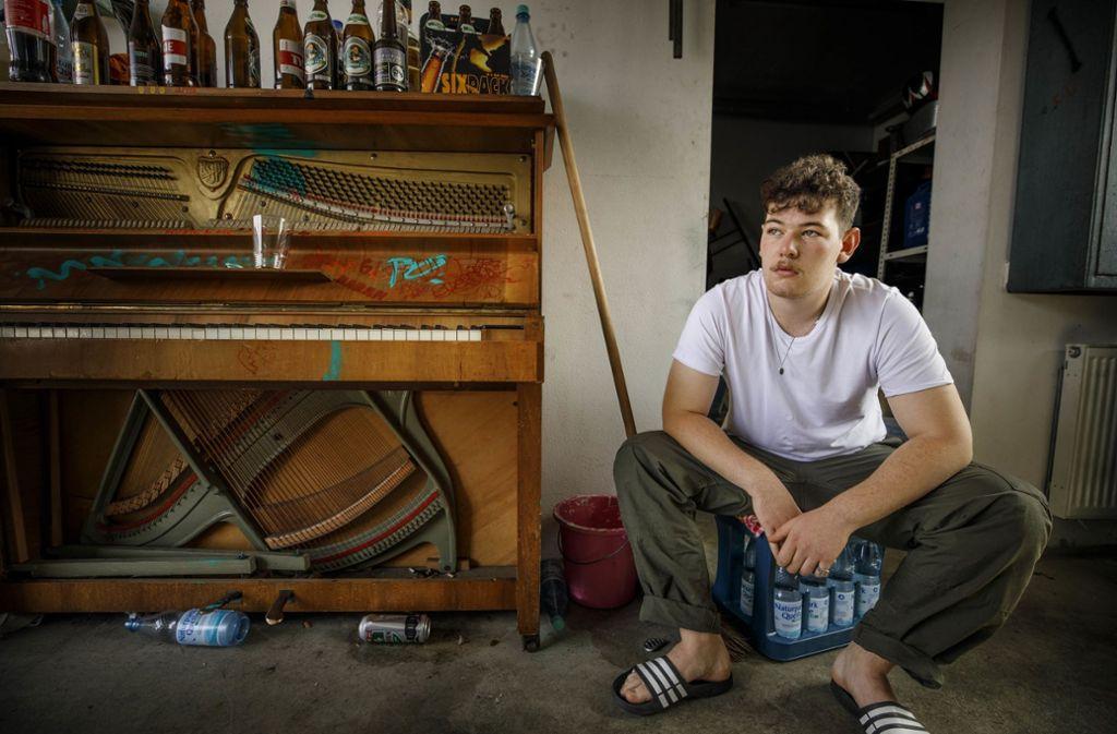 Wo alles begann: Der Rapper Majan zu Hause in Schorndorf Foto: Gottfried Stoppel