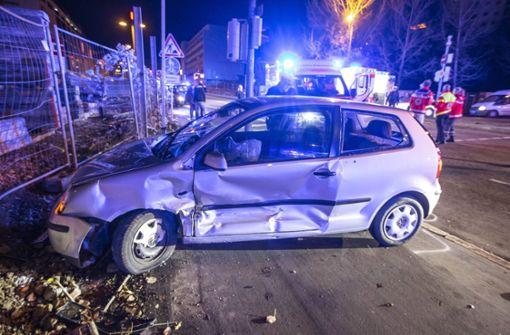 Sieben Verletzte bei Unfall