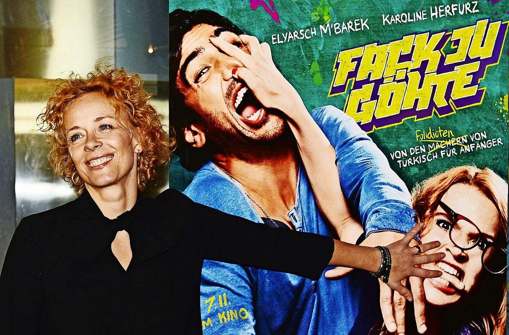 """Die von Constantin Film produzierte Komödie """"Fack ju Göhte""""  mit Schauspielerin Katja Riemann war 2013 ein Kassenschlager. Foto: dpa"""