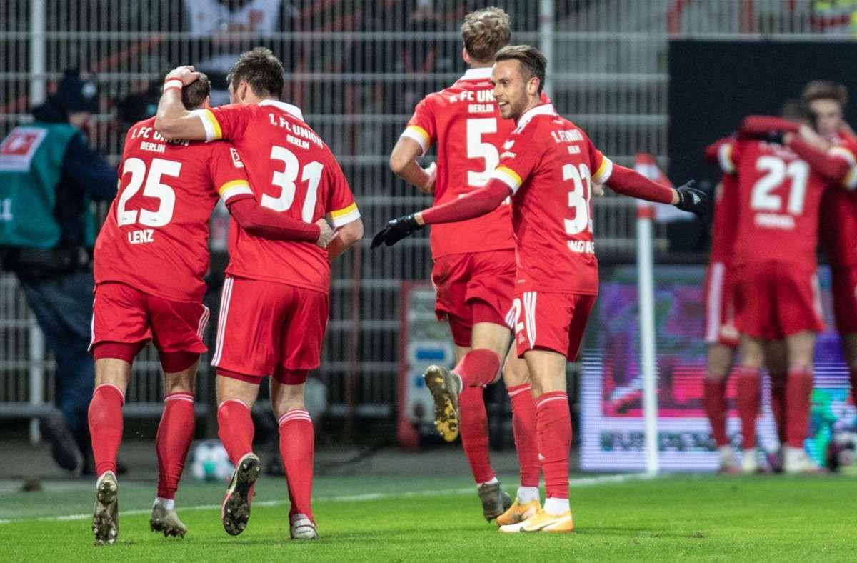 Union Berlin spielt eine starke Saison. Foto: AFP/ANDREAS GORA