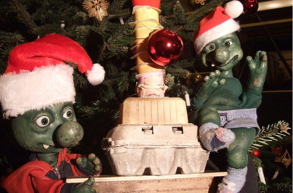 Schöne Bescherung: Weihnachten bei den Olchis ist ganz anders als anderswo. Foto: Veranstalter