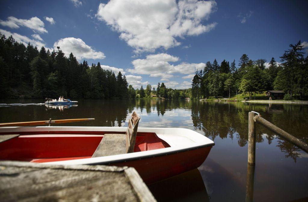 Der Ebnisee ist ein beliebtes Ausflugsziel – dort ist am Mittwoch ein Exhibitionist aufgetreten. Foto: Gottfried Stoppel
