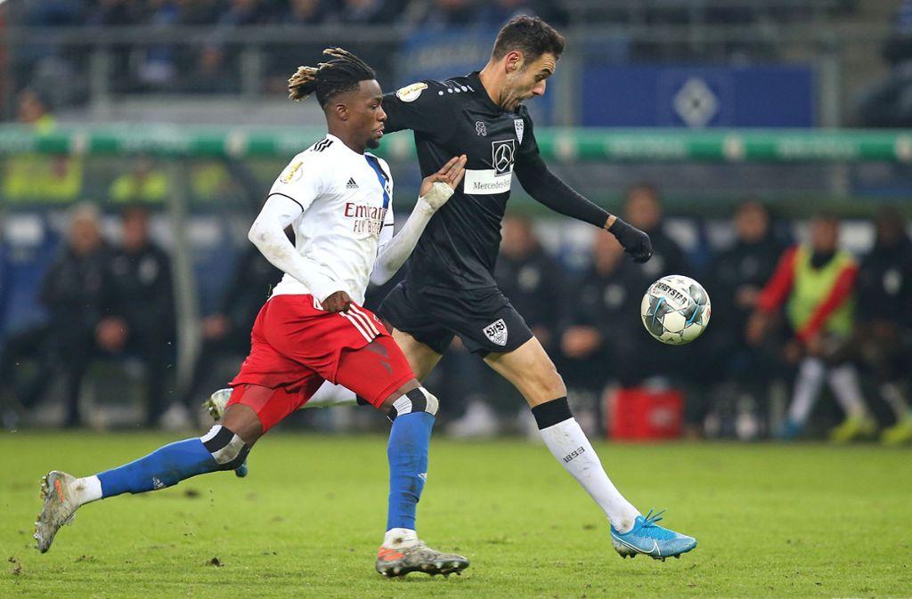 Hamadi Al Ghaddioui traf gegen den HSV in der Verlängerung zum umjubelten Siegtreffer. Foto: Pressefoto Baumann/Cathrin Müller
