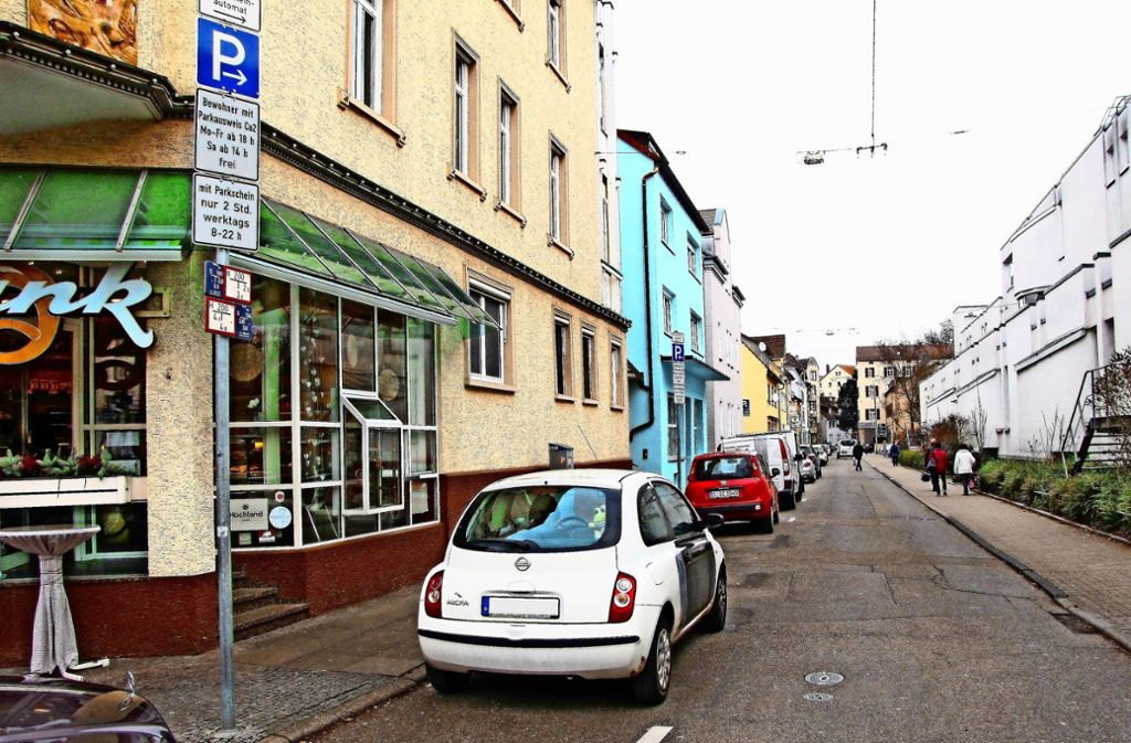 An der Sulzerrainstraße in Cannstatt gilt bereits die neue Regelung. Nun soll das Parkraummanagement auch in Vaihingen eingeführt werden. Foto: Archiv Edgar Rehberger