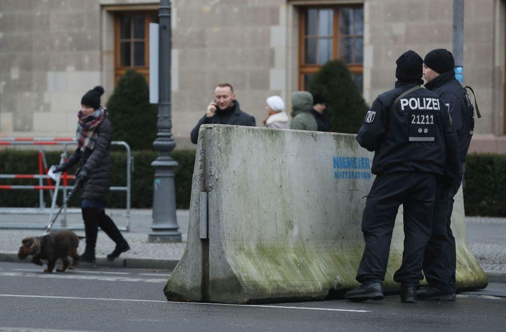 Sicherheitsvorkehrungen in Berlin nach dem Terroranschlag auf den Weihnachtsmarkt an der Gedächtniskirche. Foto: Getty Images Europe