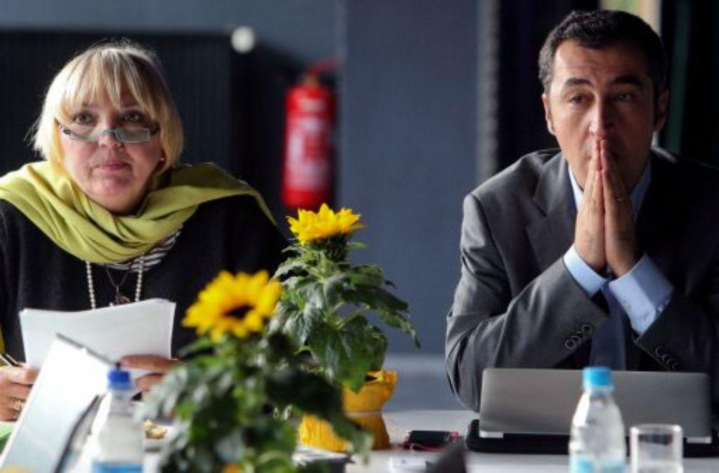 Claudia Roth und Cem Özdemir auf Abruf: Noch im Herbst soll die Grünen-Spitze neu gewählt werden. Foto: dpa