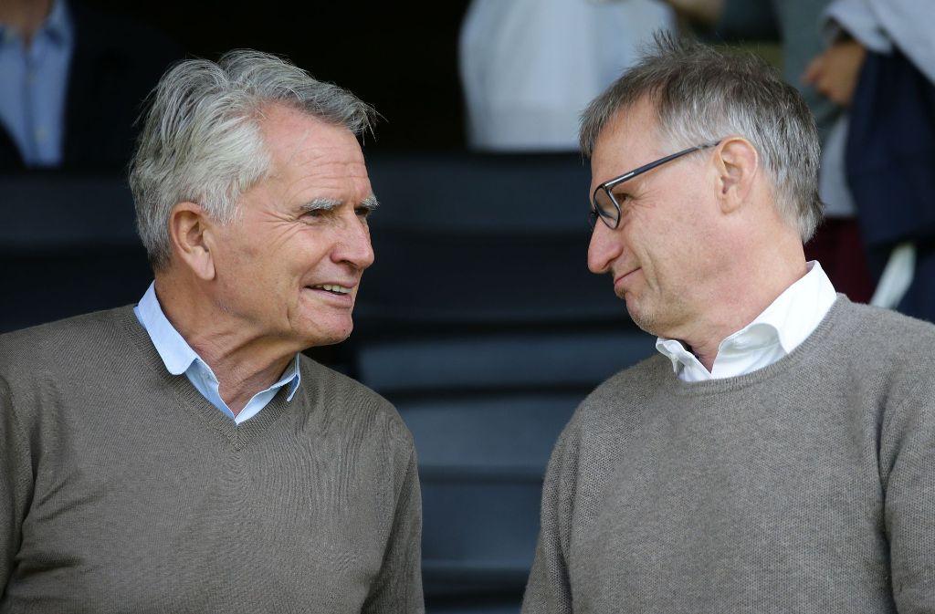 Wolfgang Dietrich (li.) will den VfB strukturell und finanziell fit machen für die Zukunft, Michael Reschke obliegt die sportliche Ausrichtung. Foto: Baumann