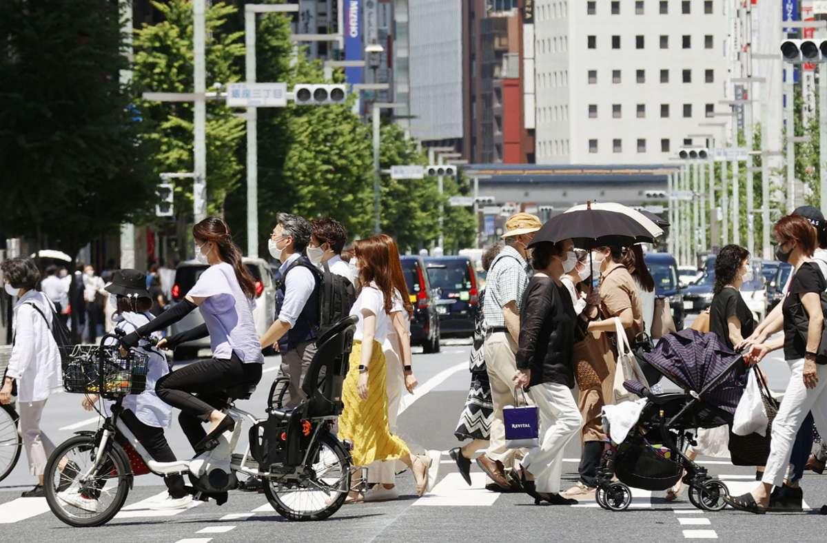 Tokio hat den höchsten Wert an Corona-Neuinfektionen binnen 24 Stunden gemeldet. Foto: dpa