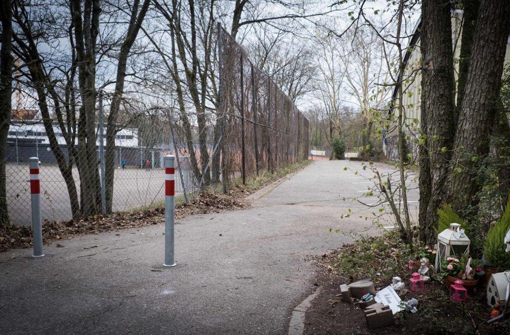 Der Parkplatz im Stuttgarter Norden ist seit dem Unfall gesperrt. Foto: Lichtgut/Achim Zweygarth