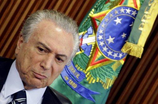 Der Übergangspräsident Michel Temer folgt Rousseff in Brasilien