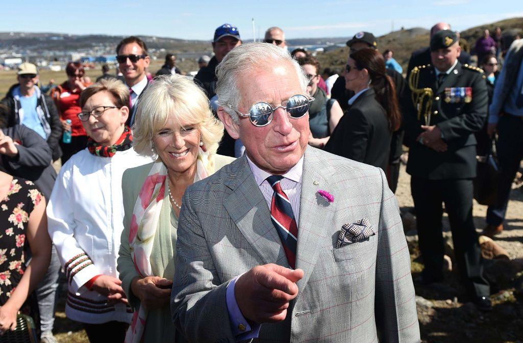 Prinz Charles und seine Frau Camille besuchten gestern in Iqaluit, Kanada, den Sylvia Grinnell Territorial Park Foto: PA Wire