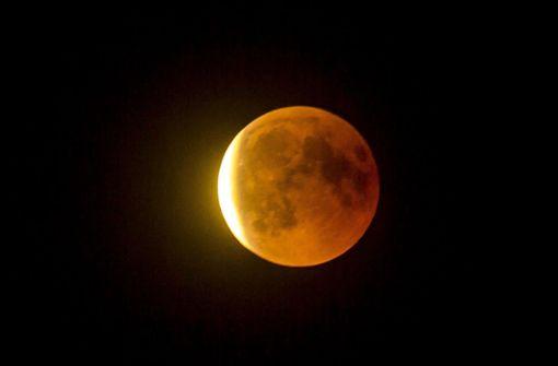Von Stuttgart aus war der Mond besonders gut zu sehen