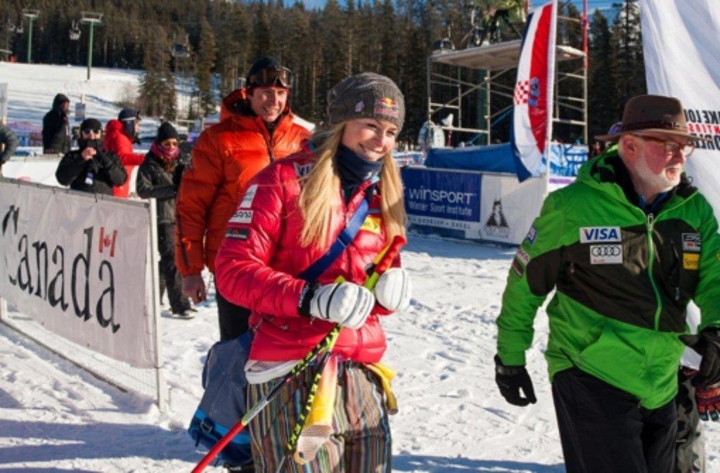 Lindsey Vonns Abfahrtstraining in Lake Louise verlief problemlos. Foto: dpa
