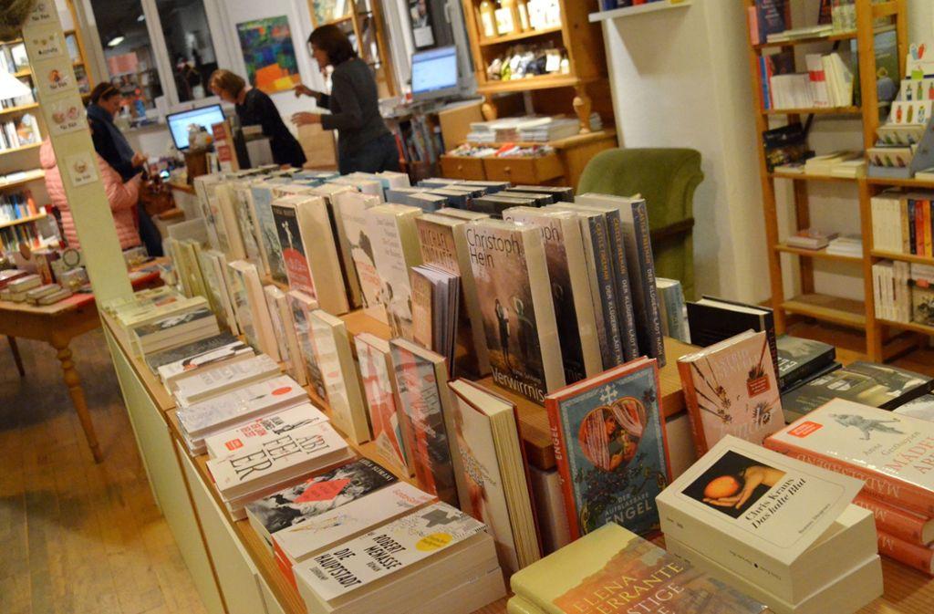 Ein Buchhandel in Vaihingen. KNV hat als Grosso deutschlandweit etliche Buchhandlungen beliefert. Foto: Sandra Hintermayr