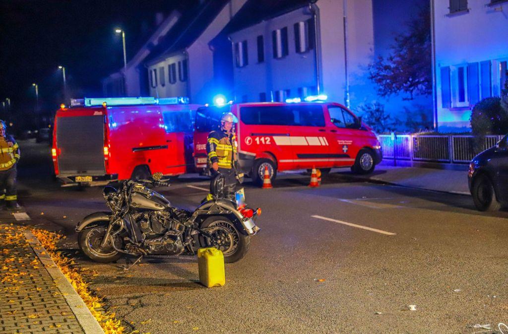 In Rheinstetten hat es einen Unfall zwischen einem Löschfahrzeug und einem Motorrad gegeben. Foto: 7aktuell.de/Fabian Geier