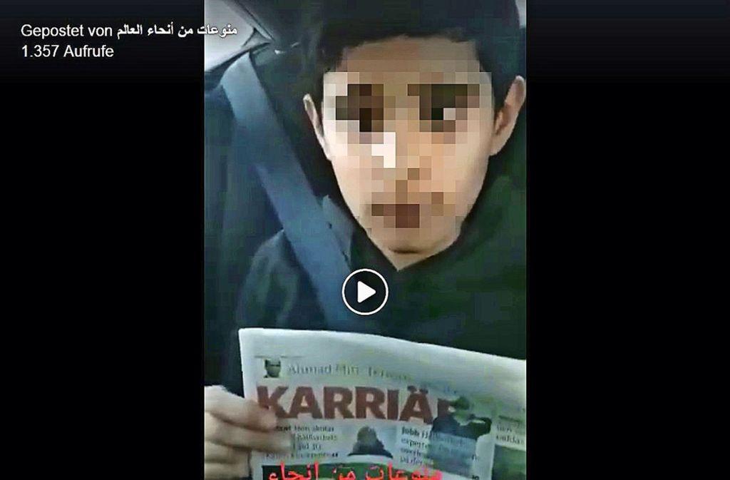Auf Facebook ist ein Video aufgetaucht, das den Jungen zeigt. Foto: Screenshot (facebook.com)