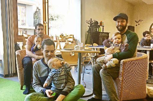 Kaffee und Kuchen für die Papas in Stuttgart