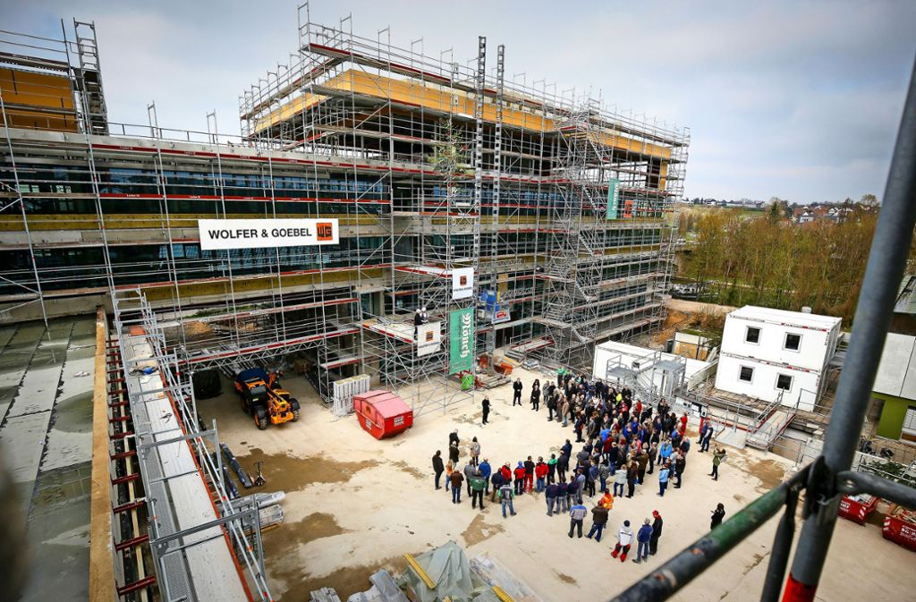 Großprojekt: die Neue Mitte in Remseck. Hier ein Blick auf das künftige Rathaus. Foto: factum/Granville
