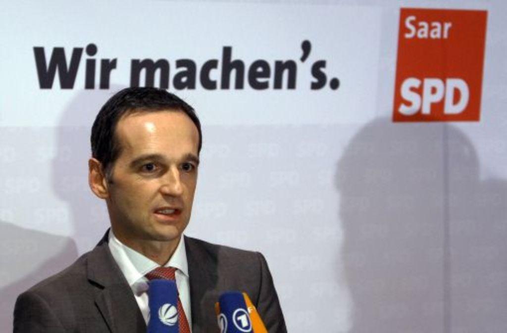 Der Landes- und Fraktionsvorsitzende der SPD im Saarland, Heiko Maas, ist bereit, mit der CDU über eine große Koalition zu reden. Foto: dpa