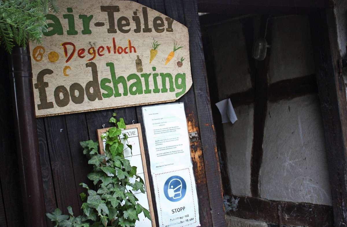 Der Fairteiler in Stuttgart-Degerloch ist zurzeit eher unauffällig. Foto: Christoph Kutzer