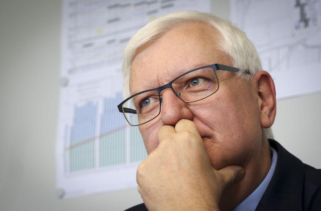 Wehrt sich gegen Kritik nach Umfrage: Rektor Wolfgang Ernst Foto: factum/Granville