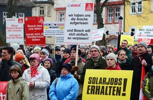 Die  erste Protestaktion  in Arnstadt Foto: dpa