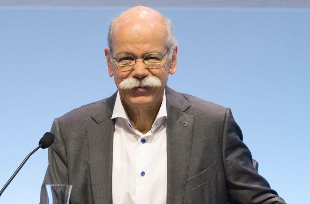 Daimler-Vorstandschef Dieter Zetsche betont die Bedeutung von Unternehmen für die Integration von Flüchtlingen Foto: AFP