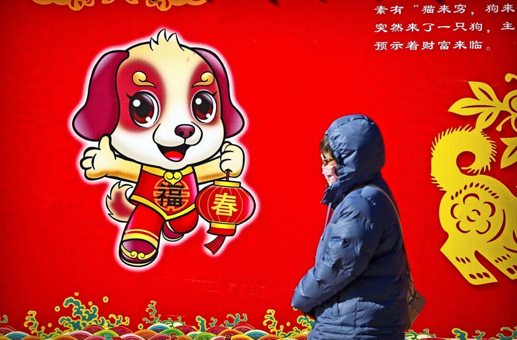 In China hat das Jahr des Hundes begonnen. Foto: AP