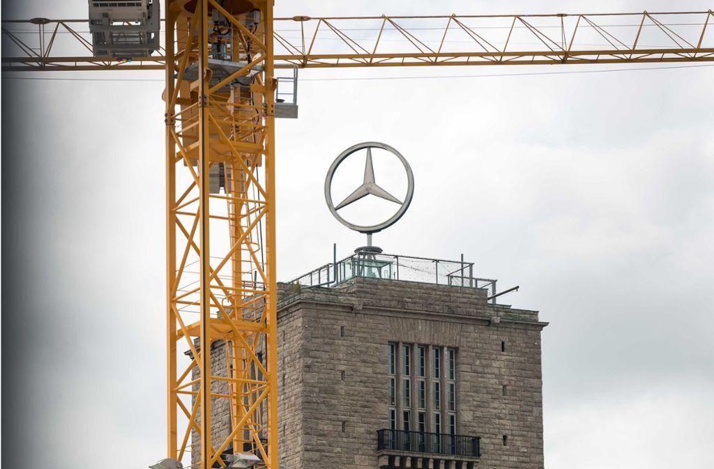 Der Schau über das Bauprojekt muss aus dem Bahnhhofsturm ausziehen. Foto: Lichtgut/Max Kovalenko
