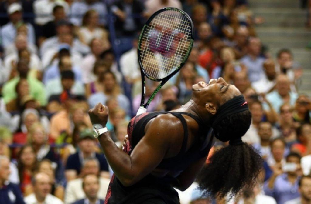 Serena Williams steht im Halbfinale der US Open. Foto: AFP