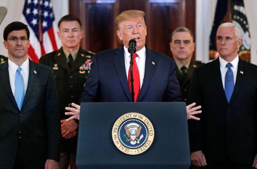 Trump geht nicht auf Konfrontationskurs mit dem Iran