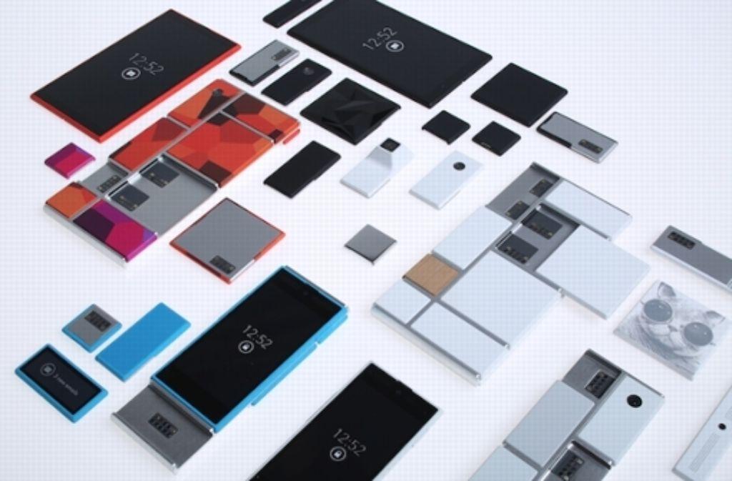 Die Google-Tochter Motorola präsentiert mit Project Ara ein zukunftsweisendes Konzept, mit dem modulare Smartphones realisiert werden könnten. Foto: Motorola