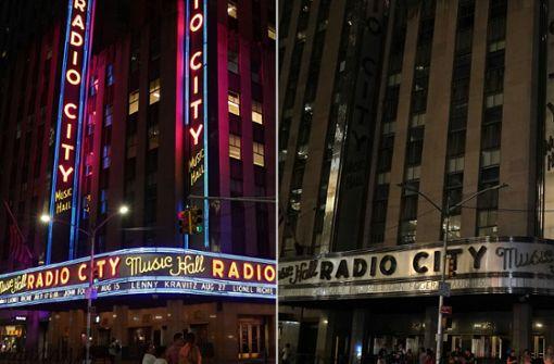 Broadway-Künstler spielen spontan auf der Straße