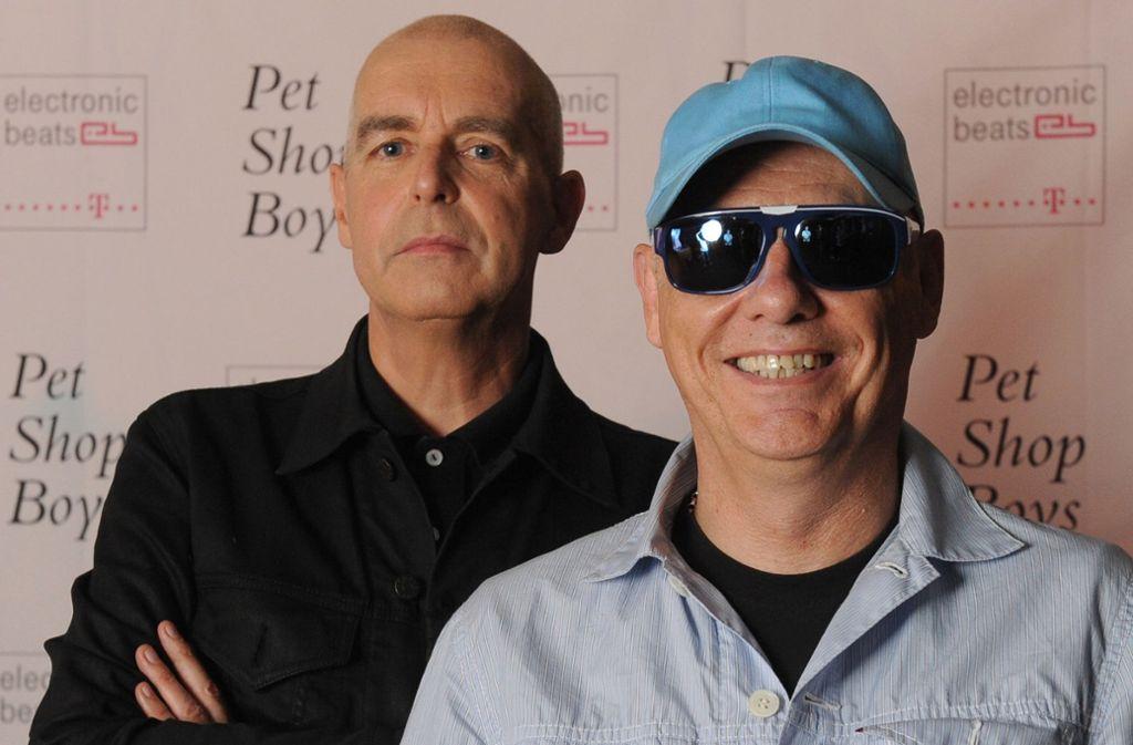 Neil Tennant (links) und Chris Lowe haben ihr neues Album in den legendären Berliner Hansa Studios aufgenommen. Foto: dpa/Britta Pedersen