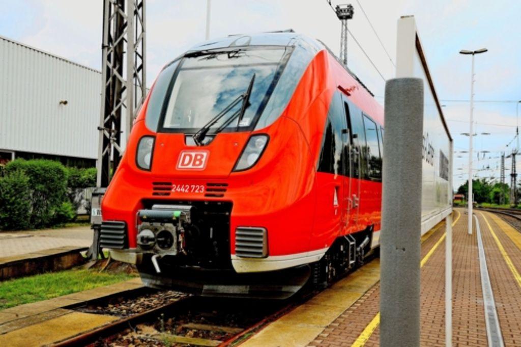 Von 2017 an will die Bahn  auf der Gäubahn   moderne Triebwagen einsetzen. Foto:
