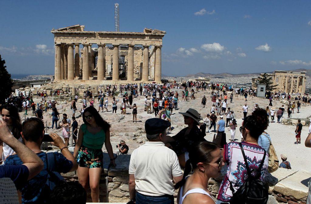 Das EU-Büro in Athen befindet sich in der Nähe der Akropolis. Foto: dpa/Aristidis Vafeiadakis