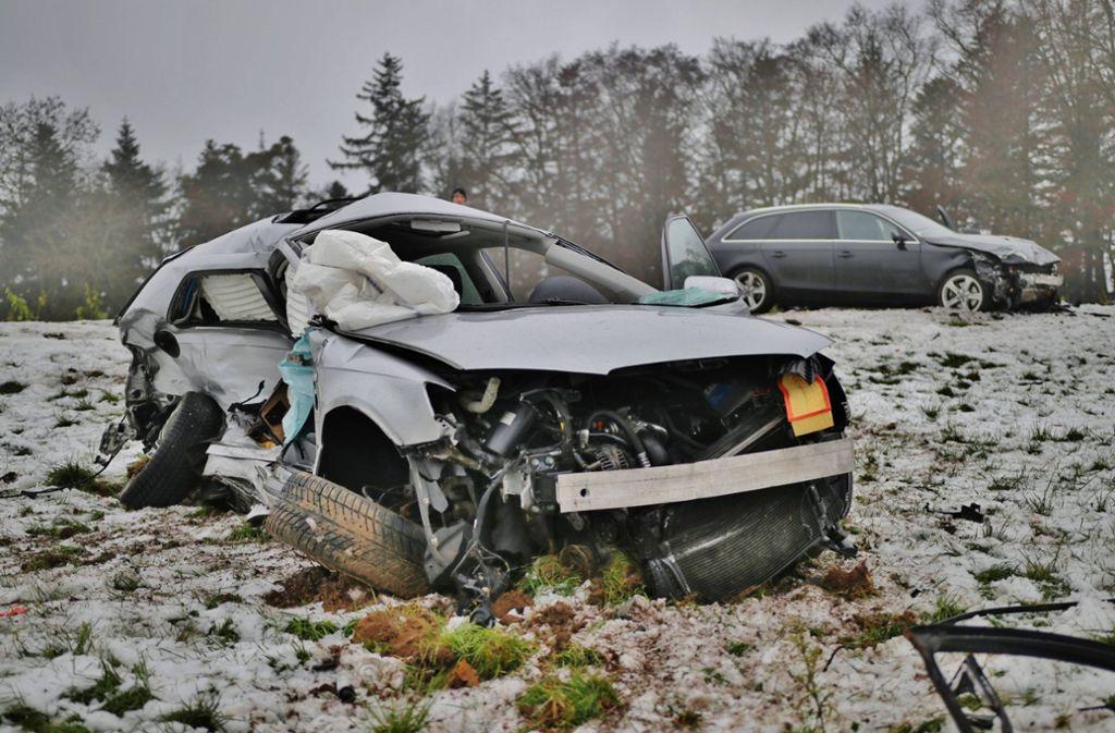Beide Beteiligten wurden schwer verletzt – eine Frau schwebte am Nachmittag in Lebensgefahr. Foto: 7aktuell.de/ Lermer