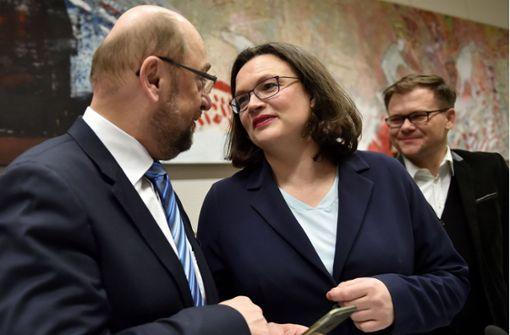 Nahles soll Schulz am Dienstag ablösen