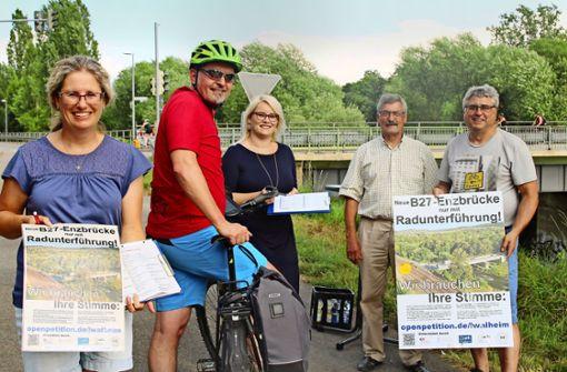 Petition für eine  Unterführung an der Enzbrücke
