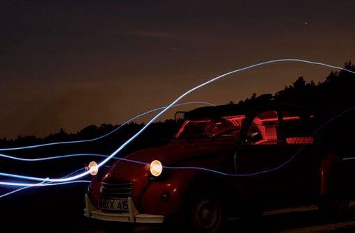Lightpainting: Lichtquellen vor der Kamera bewegen