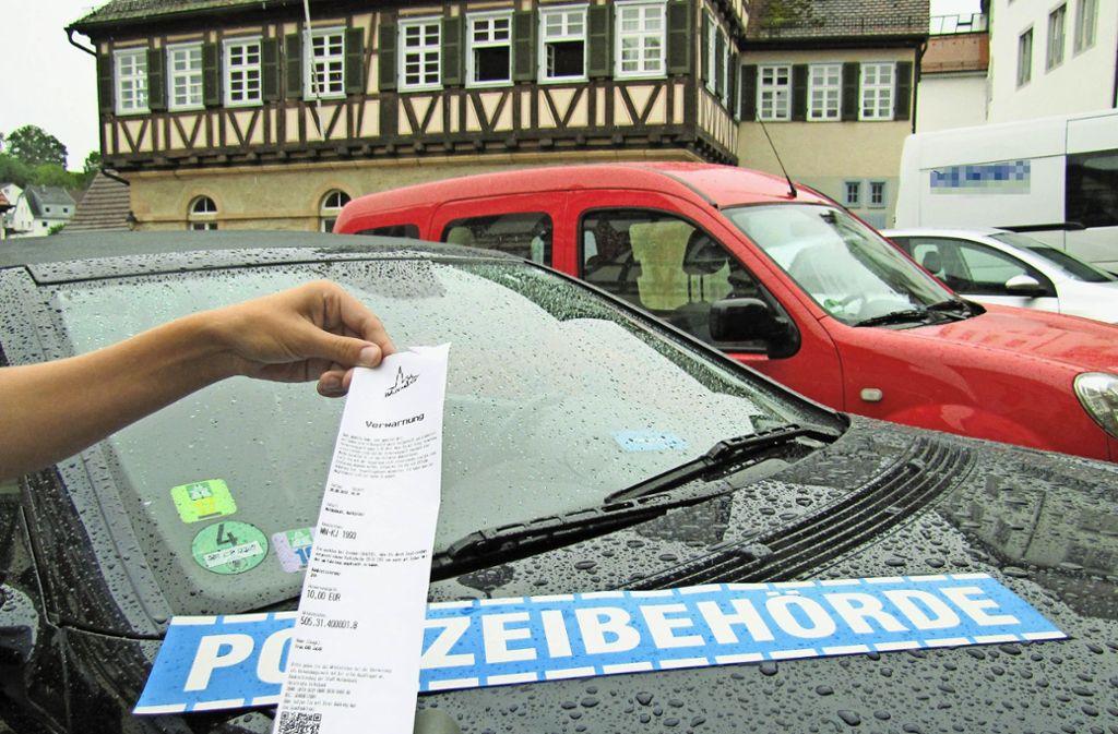 Knöllchen werden in der Schönbuchkommune derzeit eher nicht verteilt. Niemand will den Job machen. Foto: Claudia Barner