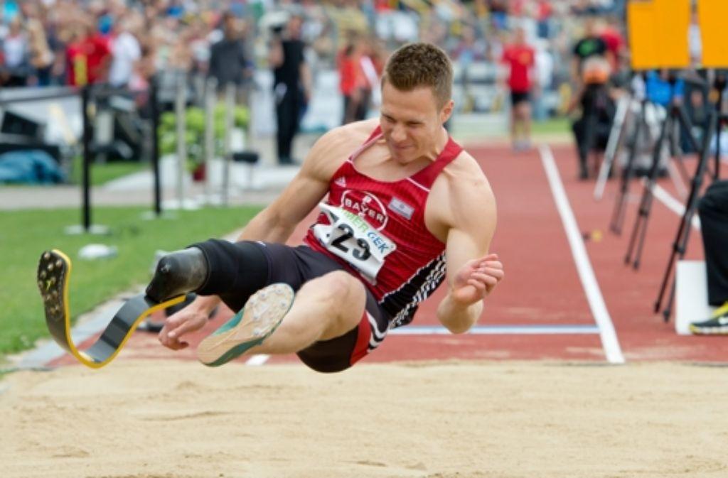 Markus Rehm bei der Leichtathletik-Meisterschaft in Ulm. Foto: dpa
