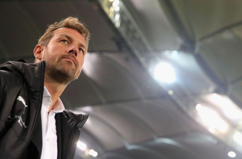 Markus Weinzierl und der VfB Stuttgart sind beim 1. FC Nürnberg gefordert. Foto: Bongarts