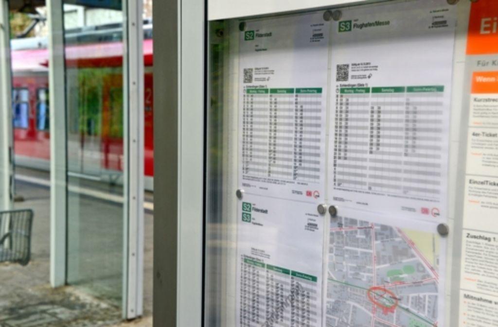 Was die S-Bahn in Leinfelden-Echterdingen betrifft, will die Bahn offenbar Ihr Konzept noch einmal auf den Prüfstand stellen. Foto: Norbert J. Leven