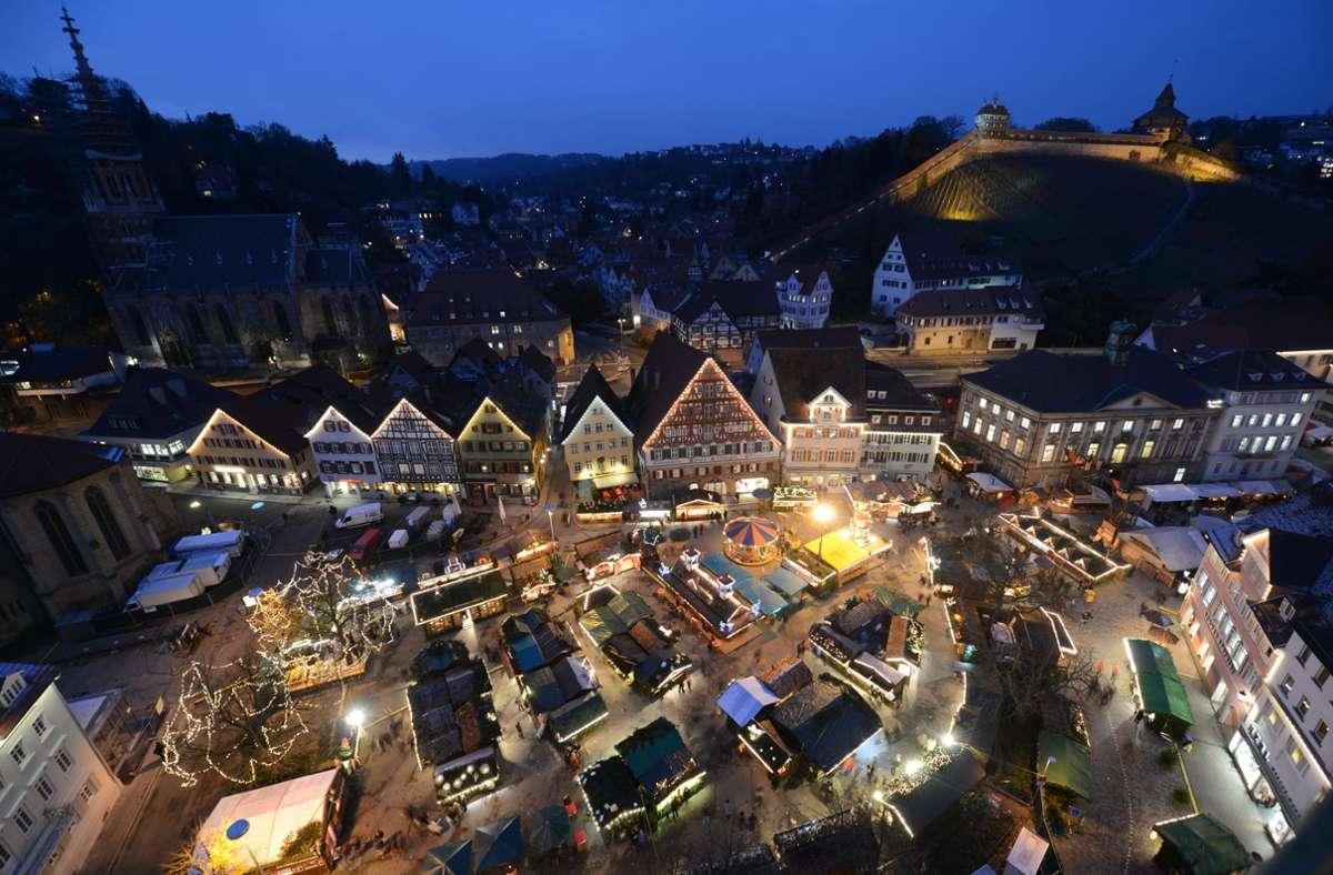 In Esslingen werden in der kommenden Weihnachtszeit 70 Standbesitzer  zum Einsatz kommen. Foto: picture alliance / dpa/Franziska Kraufmann
